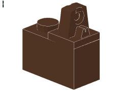 %989 ヒンジブロック[旧茶]1x2(ロック、上部に指1本)