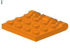%44570 ヒンジプレート[オレンジ]4x4(ロック、指4本)
