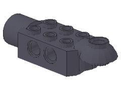 %47454 関節ブロック[新濃灰]2x3(ロック、片側面&下向きソケット)