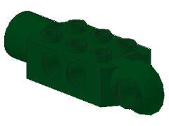 %47432 関節ブロック[濃緑]2x3(ロック、片側面&横向きソケット)