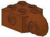 %48171 関節ブロック[新茶]2x2(ロック、横向きソケット)