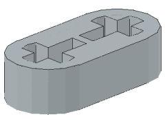 %41677 リフトアーム[新灰]1x2x1/2(軸穴)