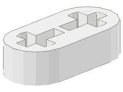%41677 リフトアーム[白]1x2x1/2(軸穴)