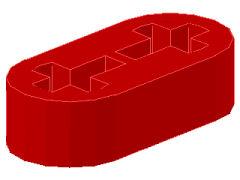 %41677 リフトアーム[赤]1x2x1/2(軸穴)