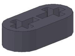 %41677 リフトアーム[新濃灰]1x2x1/2(軸穴)