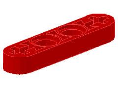 %32449 リフトアーム[赤]1x4x1/2(フラット)
