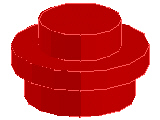 %4073 プレート[赤]1x1(丸)