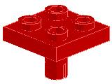 %2476b プレート[赤]2x2(下部にペグ付)
