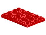 %3032 プレート[赤]4x6