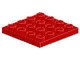 %3031 プレート[赤]4x4