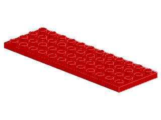 %3029 プレート[赤]4x12