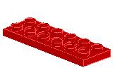 %32001 プレート[赤](穴開き)2x6