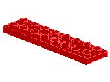 %3738 プレート[赤](穴開き)2x8