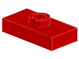 %3794 プレート[赤]1x2(中央ポッチ)