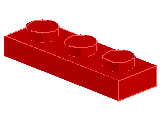 %3623 プレート[赤]1x3