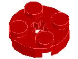 %4032 プレート[赤]2x2(円)