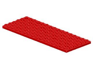 %3027 プレート[赤]6x16