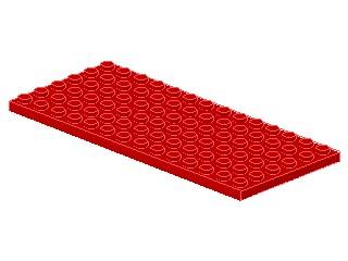%3456 プレート[赤]6x14