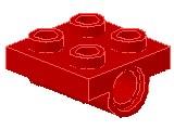 %2817 プレート[赤]2x2(下に軸受け2個)