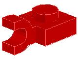 %6019 プレート[赤]1x1水平クリップ付