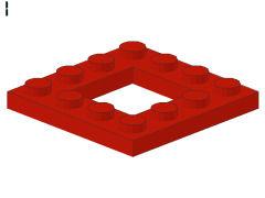 %64799 プレート[赤]4x4(2x2型抜き)