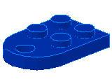 %3176 プレート[青]2x3(片側半円穴開き)