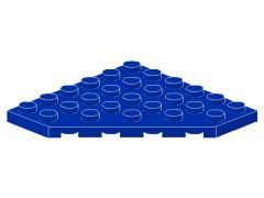 %6106 プレート[青]6x6(角が3つ)
