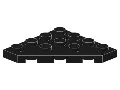 %30503 プレート[黒]4x4(角が3つ)