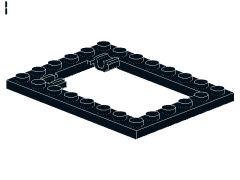 %92107 プレート[黒]6x8(落し板枠、ロングピンタイプ)