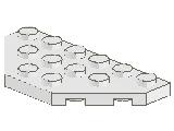 %2419 プレート[白]3x6(八角形の半分)