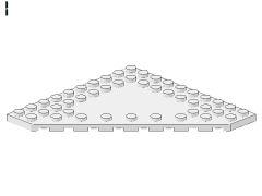%92584 プレート[白]10x10(コーナーカット、中央にポッチ無し)