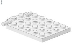 %92099 プレート[白]4x6(落し板、ロングピンタイプ)