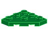 %2450 プレート[緑]3x3(角が3つ)