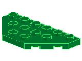 %2419 プレート[緑]3x6(八角形の半分)