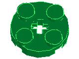 %4032 プレート円[緑]2x2