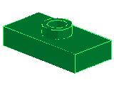 %3794 プレート[緑]1x2(中央ポッチ)