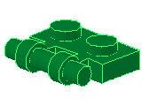 %2540 プレート[緑]1x2(取っ手x1)
