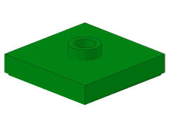 %87580 プレート[緑]2x2(中央ポッチ)