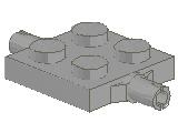 %4600 プレート[旧灰]2x2車輪(小径軸)ホルダ付