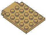 %30042 プレート[タン]4x5(落し板)
