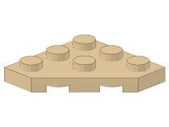 %2450 プレート[タン]3x3(角が3つ)