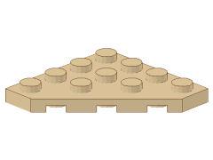 %30503 プレート[タン]4x4(角が3つ)