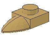 %49668 プレート[タン]1x1(牙)