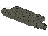 %30157 プレート[旧濃灰]2x4(両側にペグ)