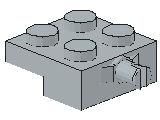%4488 プレート[新灰]2x2車輪(小径軸)片側ホルダ