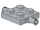 %4600 プレート[新灰]2x2車輪(小径軸)ホルダ付