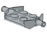 %6157 プレート[新灰]2x2車輪(小径軸)ホルダ幅広