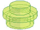 %4073 プレート[透明薄緑]1x1(丸)