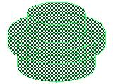 %4073 プレート[透明緑]1x1(丸)