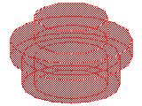 %4073 プレート[透明赤]1x1(丸)